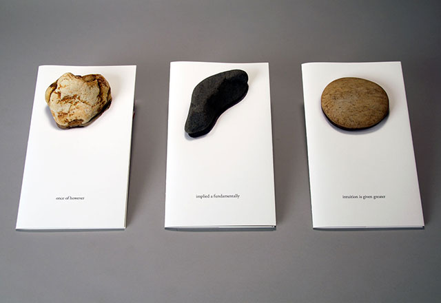 Ten Rocks books with rocks [photo: Kerry Davis]
