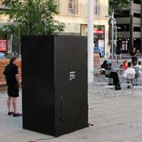 Shadow Box prototype at Director Park, Portland, Ore. August 6, 2012